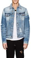 NSF Men's Distressed Denim Trucker Jacket