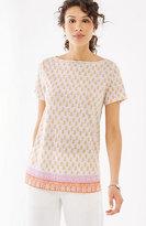 J. Jill Portofino Linen-Knit Tee