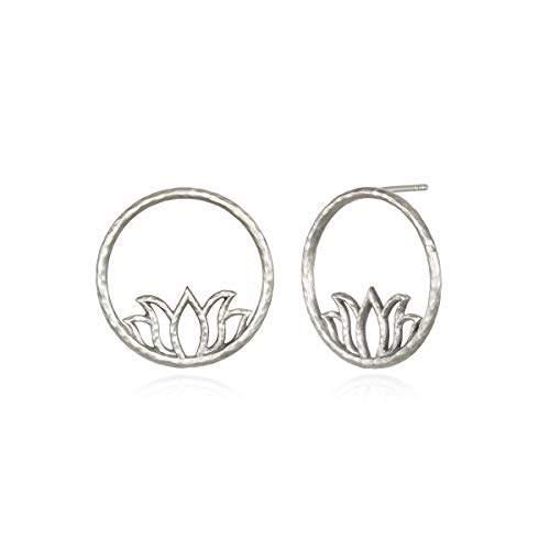 Lotus Earrings Hoop Earring