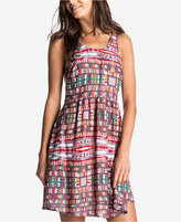 Roxy Juniors' So Smart Printed Fit & Flare Tank Dress