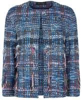 St. John Bouclé Fringed Jacket