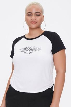Forever 21 Plus Size Raglan-Sleeve Angel Tee