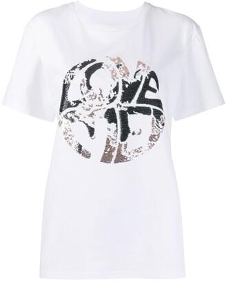 Alberta Ferretti sequinned print T-shirt