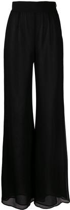 Galvan Georgette high-waist trousers