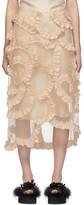 Simone Rocha Moncler Genius 4 Moncler Beige Floral Skirt