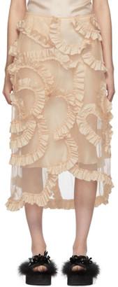 MONCLER GENIUS 4 Moncler Simone Rocha Beige Floral Skirt