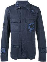 Valentino beaded patch shirt jacket - men - Cotton/Polyester/Spandex/Elastane/Viscose - 46