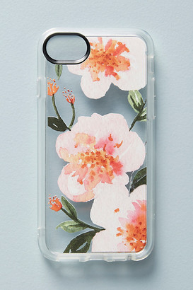 Casetify Pink Floral iPhone Case By in Pink Size S