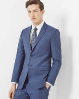 Ted Baker Debonair Textured Wool Jacket Blue