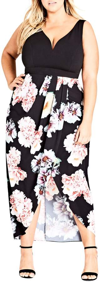 City Chic Beautiful Lies Maxi Dress