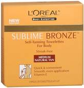 L'Oreal Self-Tanning Towelettes, for Body, Medium Natural Tan 6 ct (Pack of 2)