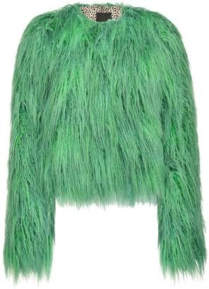Pinko Shag Trimmed Faux Shearling Jacket