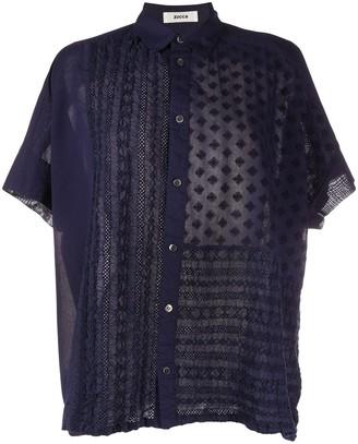 Zucca Oversized Patchwork Shirt