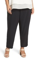 Eileen Fisher Plus Size Women's Crinkle Crepe Slim Ankle Pants