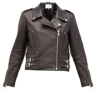 Frame Leather Biker Jacket - Womens - Black