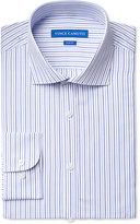 Vince Camuto Slim-Fit Blue Dobby Stripe Dress Shirt