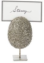 Mud Pie Mudpie Easter Egg Table Place Card Holders for Easter Dinner, 4 Colors to Choose (Silver)