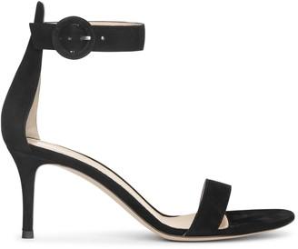Gianvito Rossi Portofino 70 black suede sandals