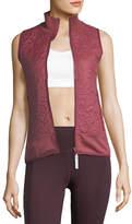 Stella McCartney Quilted Zip-Front Running Vest