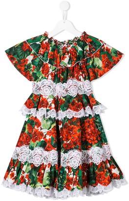 Dolce & Gabbana Kids Portofino ruffled dress