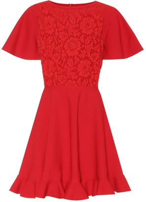 Valentino Lace-paneled minidress