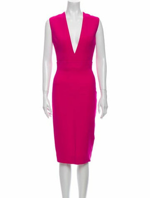 Victoria Beckham Wool Midi Length Dress Wool