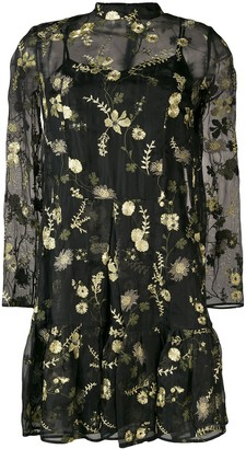 Erdem Cosima layered mini dress