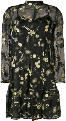 Erdem Cosima layered mini dress