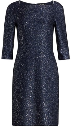 St. John Sequin Knit Cocktail Dress