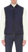 Brioni Leather Trimmed Shell Gilet