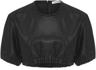 CHRISTOPHER ESBER Rolled Up Leather Tee