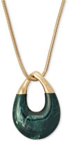 Michael Kors Colorblocked Teardrop Pendant Necklace