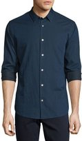 Vince Twill Long-Sleeve Sport Shirt, Indigo