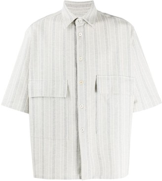 Jil Sander Striped Short-Sleeve Shirt