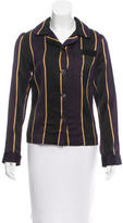 Dries Van Noten Pinstripe Long Sleeve Top w/ Tags