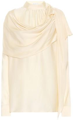 REJINA PYO Ira silk-satin cape blouse