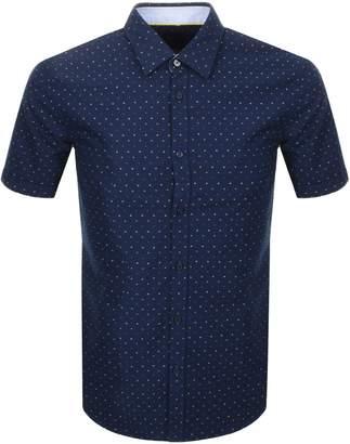 HUGO BOSS Boss Business Ronn 2 Short Sleeve Shirt Navy