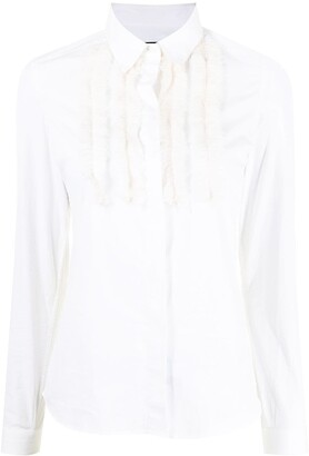 Burberry Pre-Owned Ruffle Applique Shirt