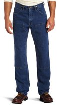 Wolverine Key Apparel Men's Relaxed Fit Enzyme Washed Indigo Denim Logger Dungaree
