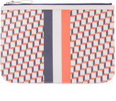 Pierre Hardy geometric print zipped clutch