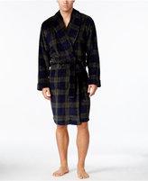 Club Room Men's Black Plaid Robe, Only at Macys
