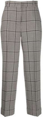 Pt01 Houndstooth Straight-Leg Trousers