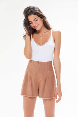 Urban Outfitters Piper Pleated Trouser Short