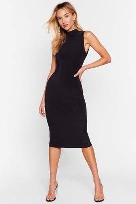 Nasty Gal Womens Forget What They Slink Open Back Midi Dress - Black