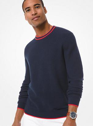 Michael Kors Cotton Crewneck Sweater - Midnight
