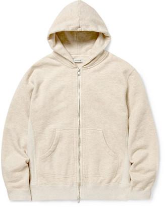 Nonnative Dweller Melange Loopback Cotton-Jersey Zip-Up Hoodie
