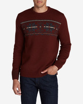 Eddie Bauer Men's Snow Bridge Crew Sweater