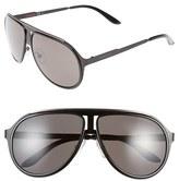 Carrera Men's Eyewear 59Mm Aviator Sunglasses - Black Ruthenium/ Brown Grey