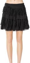 Max Studio Cotton Voile Short Skirt