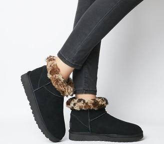 UGG Classic Mini Leopard Boots Black